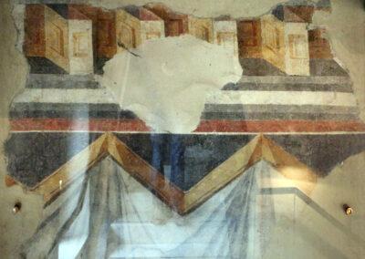 Dettaglio di affresco Museo Pomposiano